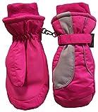 NIce Caps Kids Thinsulate and Waterproof Reflector Ski Mittens (3-4 Years, Fuchsia/Grey)