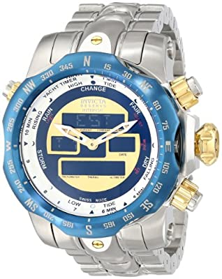 Invicta Men's 12586 Venom Analog-Digital Display Swiss Quartz Silver Watch