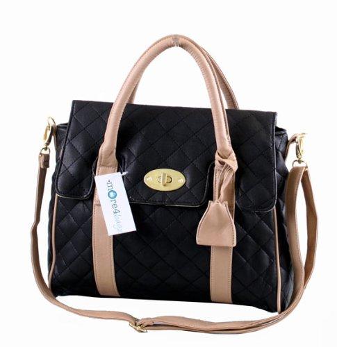 Ladies Designer Style Quilted Boutique Shoulder Satchel Handbag Brand New