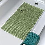 Eco Friendly Bamboo Rod Design Vinyl Tub Mat (Sage)
