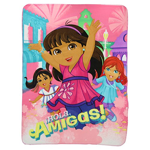 "Nickelodeon Dora and Friends, Aventura Printed Fleece Throw by The Northwest Company, 45 by 60"" - 1"