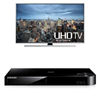 Samsung UN75JU7100 75-Inch TV with BD-H6500 Blu-ray Player by Samsung