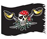 Amscan Pirate Flag, Red