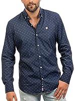 Signore Dei Mari Camisa Hombre Anderson (Azul Noche / Blanco)