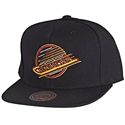 Mitchell & Ness Vancouver Canucks Wool Solid Snapback Cap NZ980 Kappe Basecap