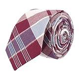Andrews & Co. Estrecho lazo de tela escocesa púrpura