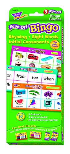 Rhyming/Sight Words/Consonants Wipe-Off Bingo Game - 1