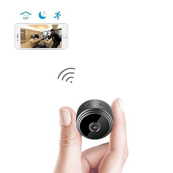 ad6e64e0803 Spy Camera Wireless Hidden WiFi Camera AREBI HD 1080P Mini Camera Portable  Home Security Cameras Covert ...