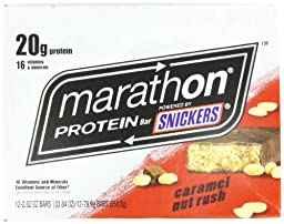Marathon Bars High Protein Caramel Nut Rush, 2.82oz Bars(Pack of 12)