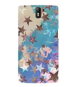 Stars pattern Back Case Cover for One Plus One::One Plus1