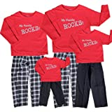 My Family Rocks Red-Black Clothing Set; Choose Adult or Kids or Dog Bandana ~ Footsteps Clothing