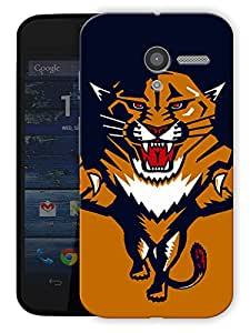 """Angry Tiger Cartoon Printed Designer Mobile Back Cover For """"Motorola Moto X"""" By Humor Gang (3D, Matte Finish, Premium Quality, Protective Snap On Slim Hard Phone Case, Multi Color)"""