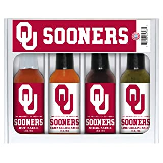 OKLAHOMA Sooners Mini Grilling Set 4x5 oz
