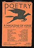 img - for Poetry: A Magazine of Verse March 1937 book / textbook / text book