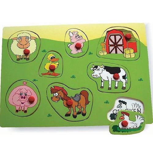 Cheap Puzzled Farm 2 – Wooden Peg Puzzle (B004MQ9TFA)