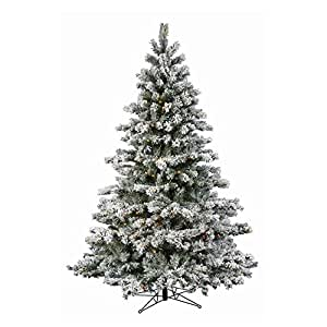 Amazon.com - Flocked Aspen Pre-lit LED Christmas Tree