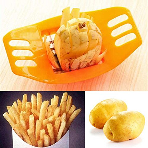 Potato Cutter Slicer Chopper Kitchen Cooking Tools gadgets Stainless Steel Fries (Potato Heater compare prices)