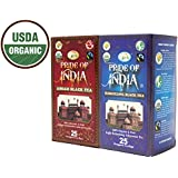 Pride Of India - Organic Classic English Black Tea Combo - Assam Breakfast & Darjeeling Afternoon Tea (2 BOXES...