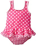 Flap Happy Baby-Girls Infant UPF 50+ Ruffle Tank Suit with Swim Diaper