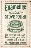 1898 Vintage Ad Enameline Kitchen Stove Polish Prescott - Original Print Ad