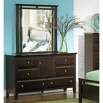 Homelegance Verano 6 Drawer Dresser w/ Mirror in Espresso