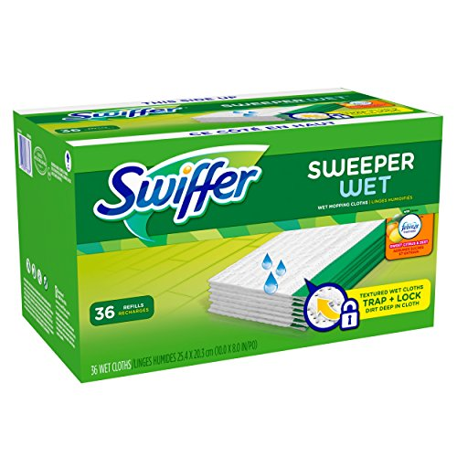 Swiffer Sweeper Wet Mopping Pad Refills for Floor Mop with Febreze Sweet Citrus & Zest Scent 36 Count (Packof 2) (Swiffer Sweeper Wet Jet Refills compare prices)