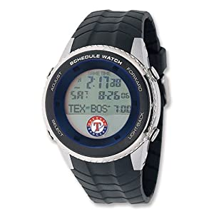 Mens MLB Texas Rangers Schedule Watch by Jewelry Adviser Mlb Watches