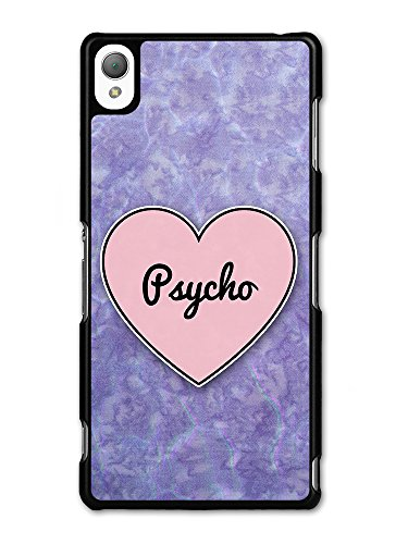 Psycho Heart in Lilac Grunge Hipster Background custodia per Sony Xperia Z3