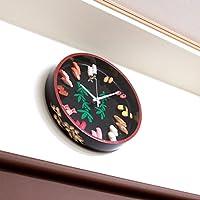 Real Gift お寿司の時計L SN04-3017 壁掛け時計 直径33.5cm 食品サンプル時計