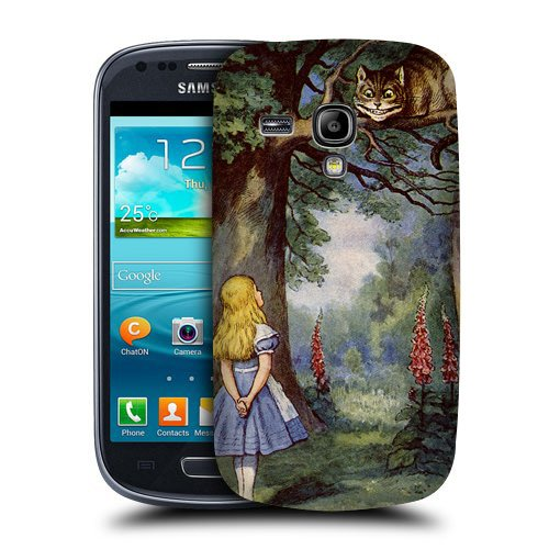 Case Fun Alice in Wonderland Cheshire Cat Snap-on Hard Back Case Cover for Samsung Galaxy S3 Mini (I8190) (Samsung S3 Mini Case Cat compare prices)