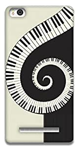 The Racoon Lean printed designer hard back mobile phone case cover for Xiaomi Mi4i. (Piano Swir)