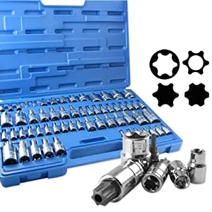 Neiko 60-Piece Master Torx Star Socket Set