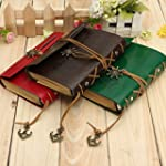 Vintage Retro Leather Cover Notebook...