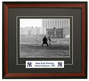 New York Yankees Babe Herman Ruth Pitching in the Bronx. Framed 8x10 Photograph by Legends Gallery