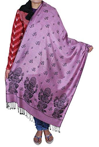 Donne lungo inverno morbido caldo scraf - dio Ganesha om scialle patterened avvolgere -214 x 76 cm