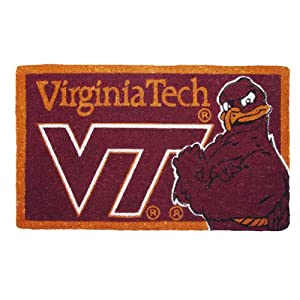 "NCAA Virginia Tech Coir Floor Mat 30"" x 18"""