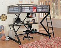 Hot Sale Coaster Loft Bed Full Size Work Station