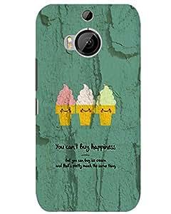 Hugo HTC One M9 Plus Back Cover Hard Case Printed Designer Multicolour