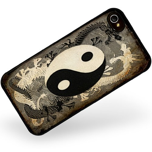 Rubber Case for iphone 4 4s Yin and yang, ying dragon – Neonblond