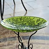 Bird Bath Tree of Life in Glass