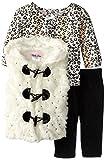Little Lass Baby-Girls Newborn 3 Piece Fur Vest Set Hi-Low