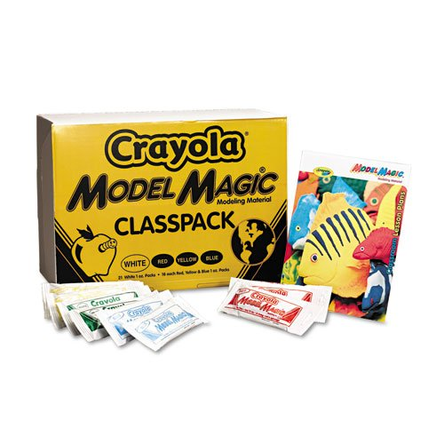 Crayola® - Model Magic Modeling Compound, 1 oz each packet Assorted, 75 oz - Sold As 1 Carton - Air drying modeling compound is soft, clean and can be colored with paint or markers.