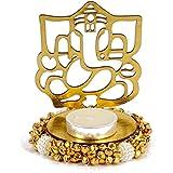 Giftacrossindia Exclusive Shadow Diya Tealight Candle Holder Of Removable Ganesha Idol For Diwali Home Decor Gift...