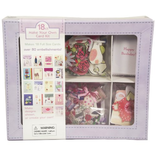 Make Your Own Handmade Greeting Cards Boxed Set, Makes 18 Full Sized Greeting Cards, Over 80 Embellishments