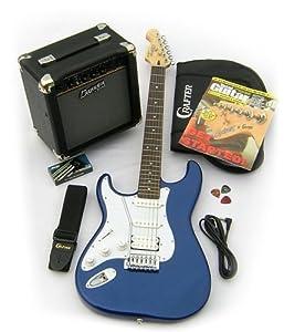 left handed crafter cruiser st200 electric guitar starter package metallic blue. Black Bedroom Furniture Sets. Home Design Ideas