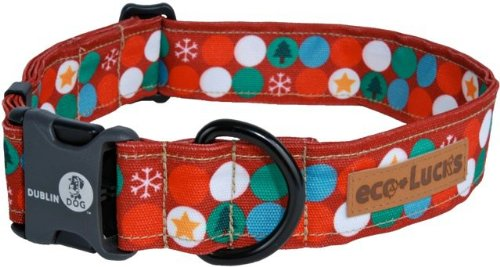 eco-Lucks Holiday Dog Collar, Blitzen, Medium 12
