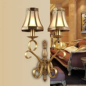 Country Decor Wall Sconces : CRF Living room bedroom bedside lamp French Country style single stud wall sconce - - Amazon.com