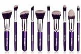 BS-MALL 2015 New Premium Synthetic Kabuki Makeup Brush Set Cosmetics Foundation Blending Blush Eyeliner Face Powder Brush Makeup Brush Kit (Silver Purple)