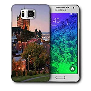 Snoogg Colorful Buildings Printed Protective Phone Back Case Cover For Samsung Galaxy SAMSUNG GALAXY ALPHA