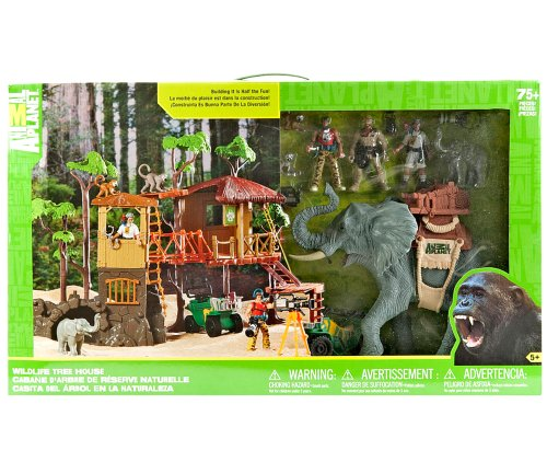 Wildlife tree house animal planet playset jungle adventure for Classic jungle house for small animals